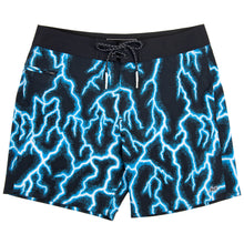 Load image into Gallery viewer, Bside Boardshort Bright Cyan Lightning