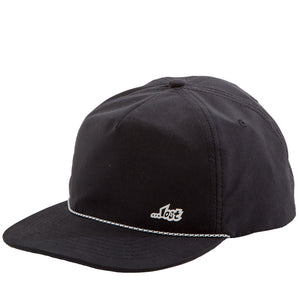 Drifter Unstructured Snapback Hat Black