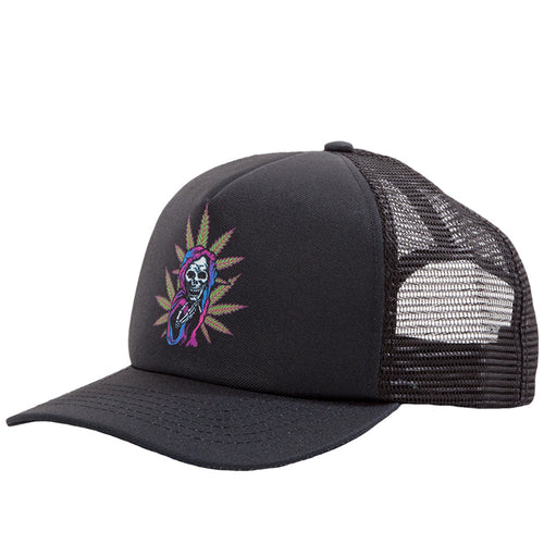 Grim Reefer Trucker Hat Black