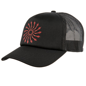 Wheel Of Life Trucker Vintage Black