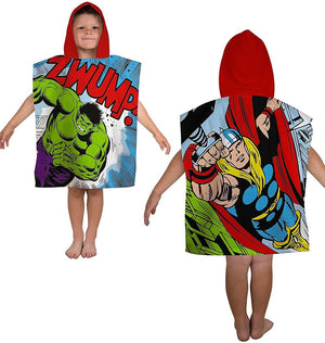 Kids Marvel Comics Retro Hooded Poncho