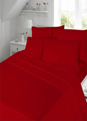 Thermal Flannelette Cotton Plain Duvet Covers Set