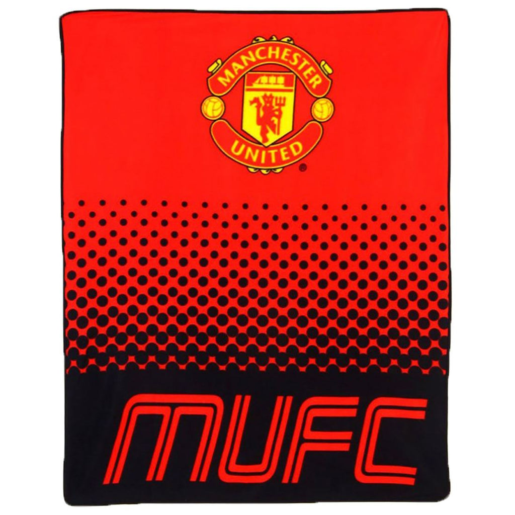 Manchester United FC Printed Fade Fleece Blanket
