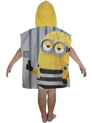 Despicable Me Minion Jailbird Hooded Poncho Towel