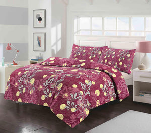 Soft Cosy Poly Cotton Floral Quilt Cover Duvet Cover Set