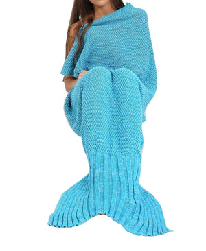 Womens Fishtail Mermaid Cosy Knitted Blanket