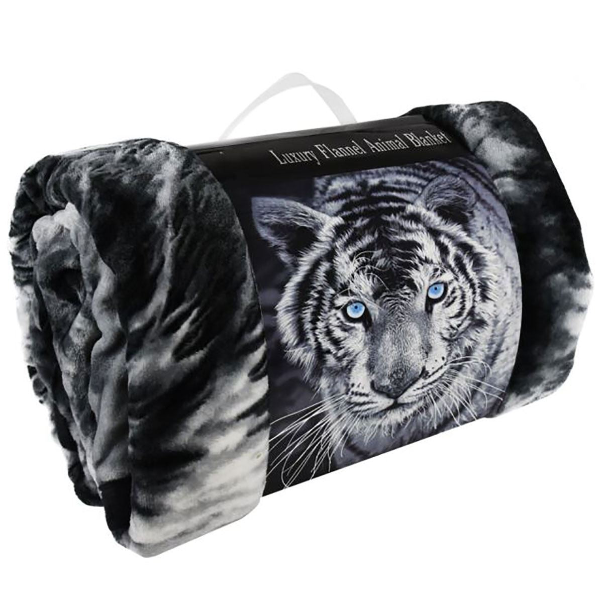 3D Faux Fur Tiger Three Wolf Printed Throws Blanket