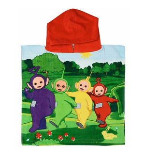 Childrens Teletubbies Hooded Poncho Towel