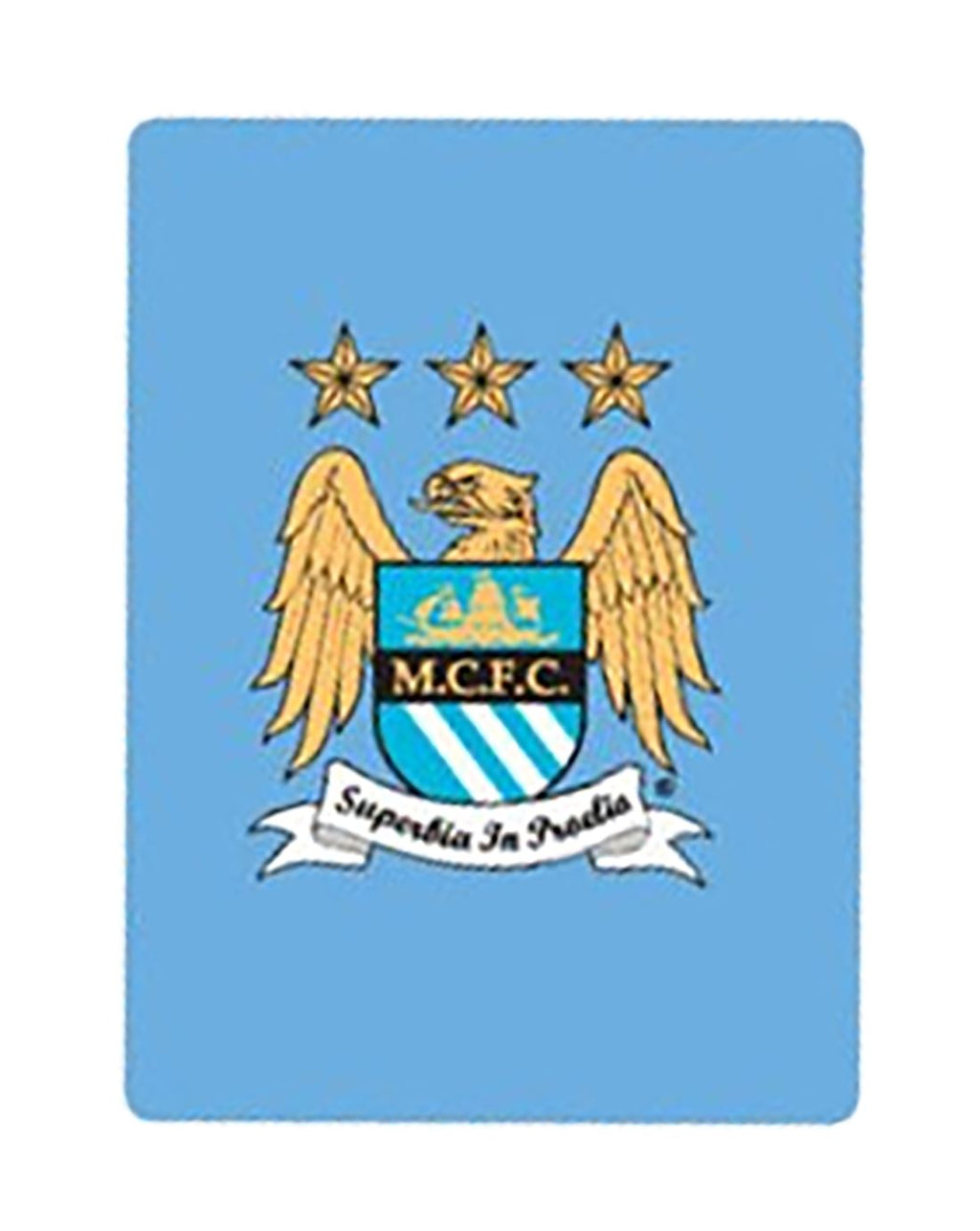 Luxury Manchester City Fc Print Throws