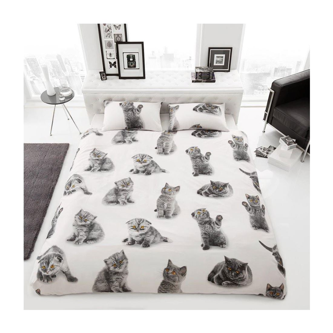3D Cat Kitten Print Duvet Cover Bedding Set