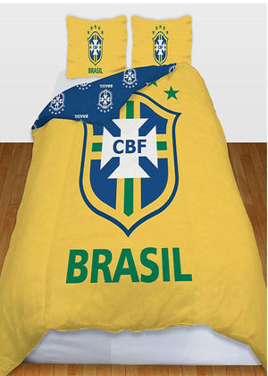 Brasil Football Club Logo Printed Duvet Pillow Case Set Double Size