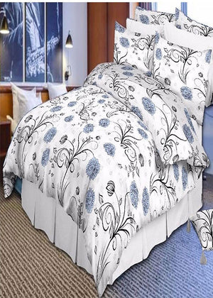 100% Egyptian Cotton Floral Print Duvet Pillow Case