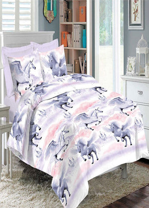 Eiffel Tower Unicorn Printed Duvet Pillow Cover