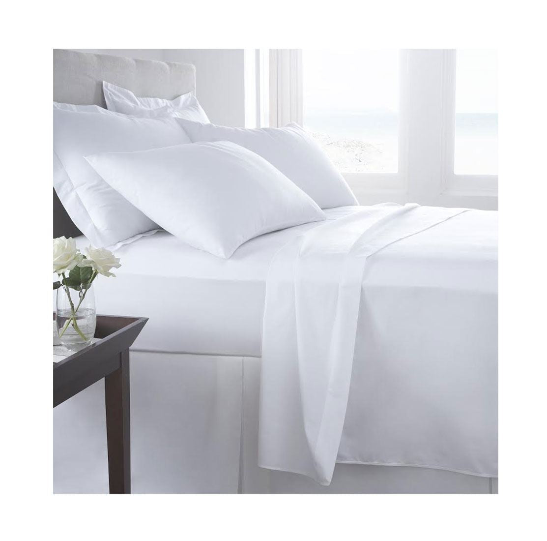 Luxury T400 Egyptian Cotton T-400 Thread Count Duvet Cover Bedding Fitted Flat Sheets