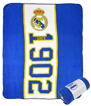 Real Madrid Football Club Print Fleece Blanket 150 X 100cm