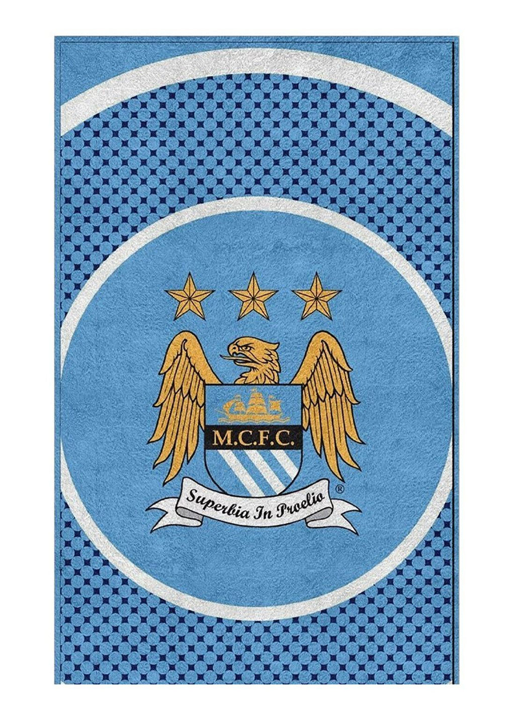 Kids Manchester Football Crest Towel