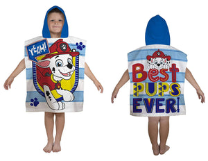 Paw Patrol Blue Peek Hooded Poncho Towel