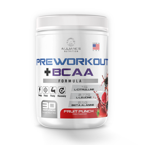 HIGH POTENCY PRE WORKOUT + BCAA - The Alliance Nutrition