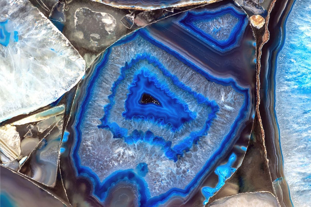 close up of agate stone