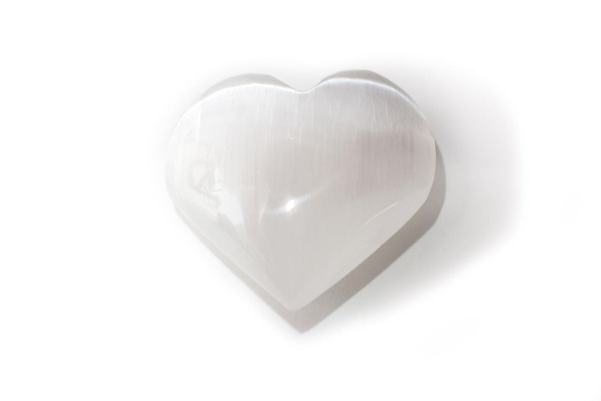 Selenite Heart Shaped Stone