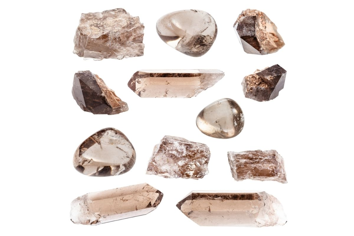Different Styles of Smoky Quartz