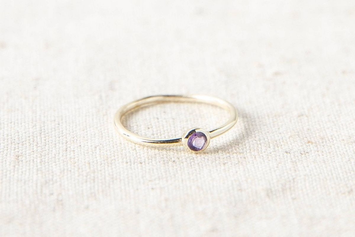 amethyst ring from tiny rituals