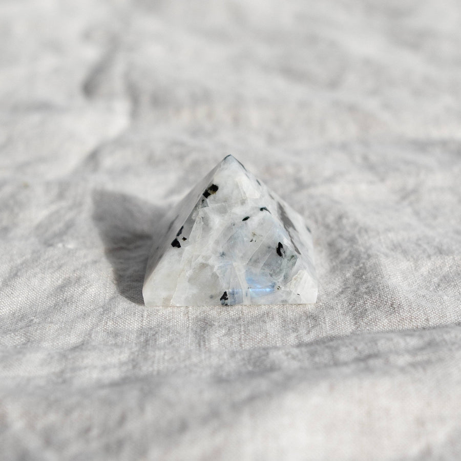 Rainbow Moonstone Pyramid