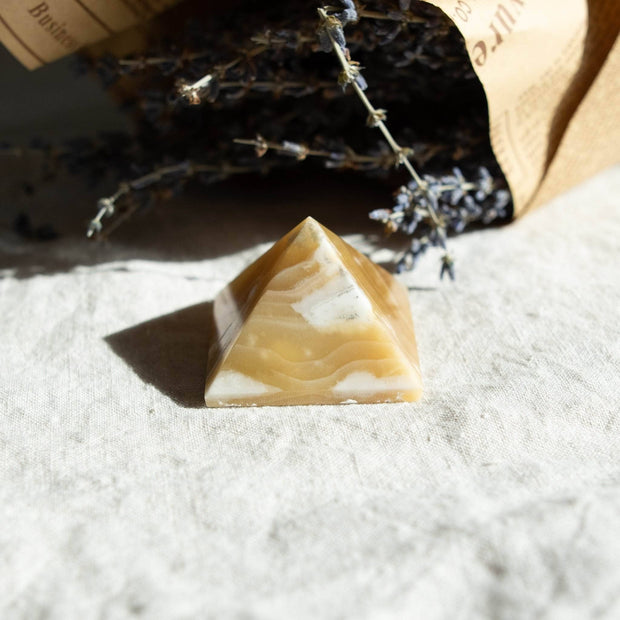 Yellow Calcite Pyramid 1