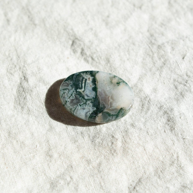Moss Agate Worry Stone 1