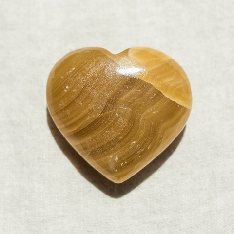 Yellow Calcite Heart