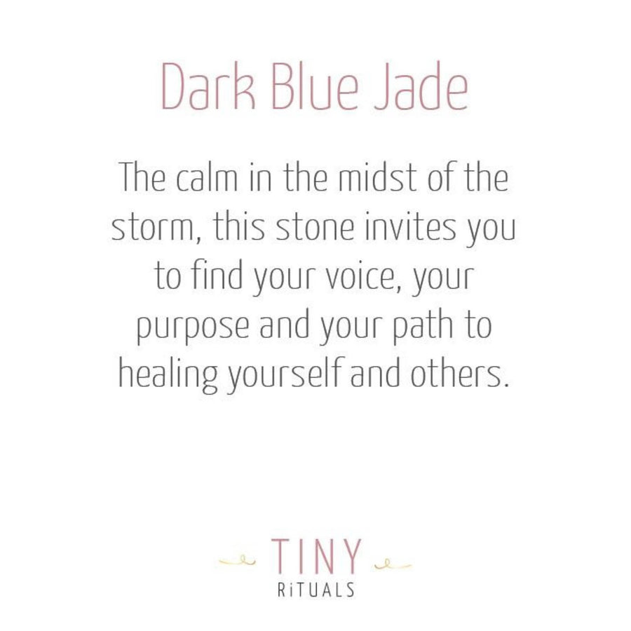 Dark Blue Jade Energy Bracelet