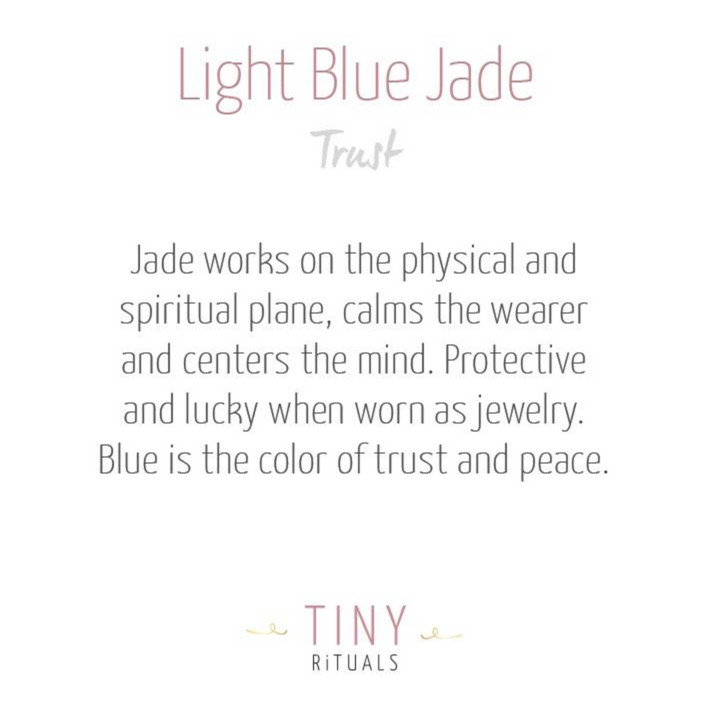Light Blue Jade Energy Bracelet