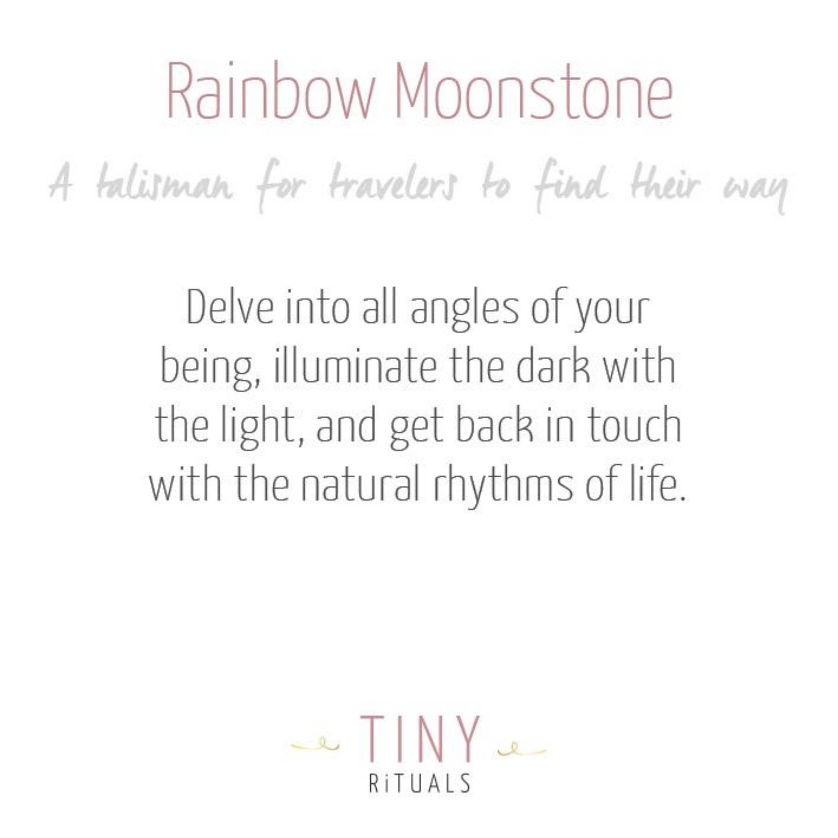 Rainbow Moonstone Worry Stone
