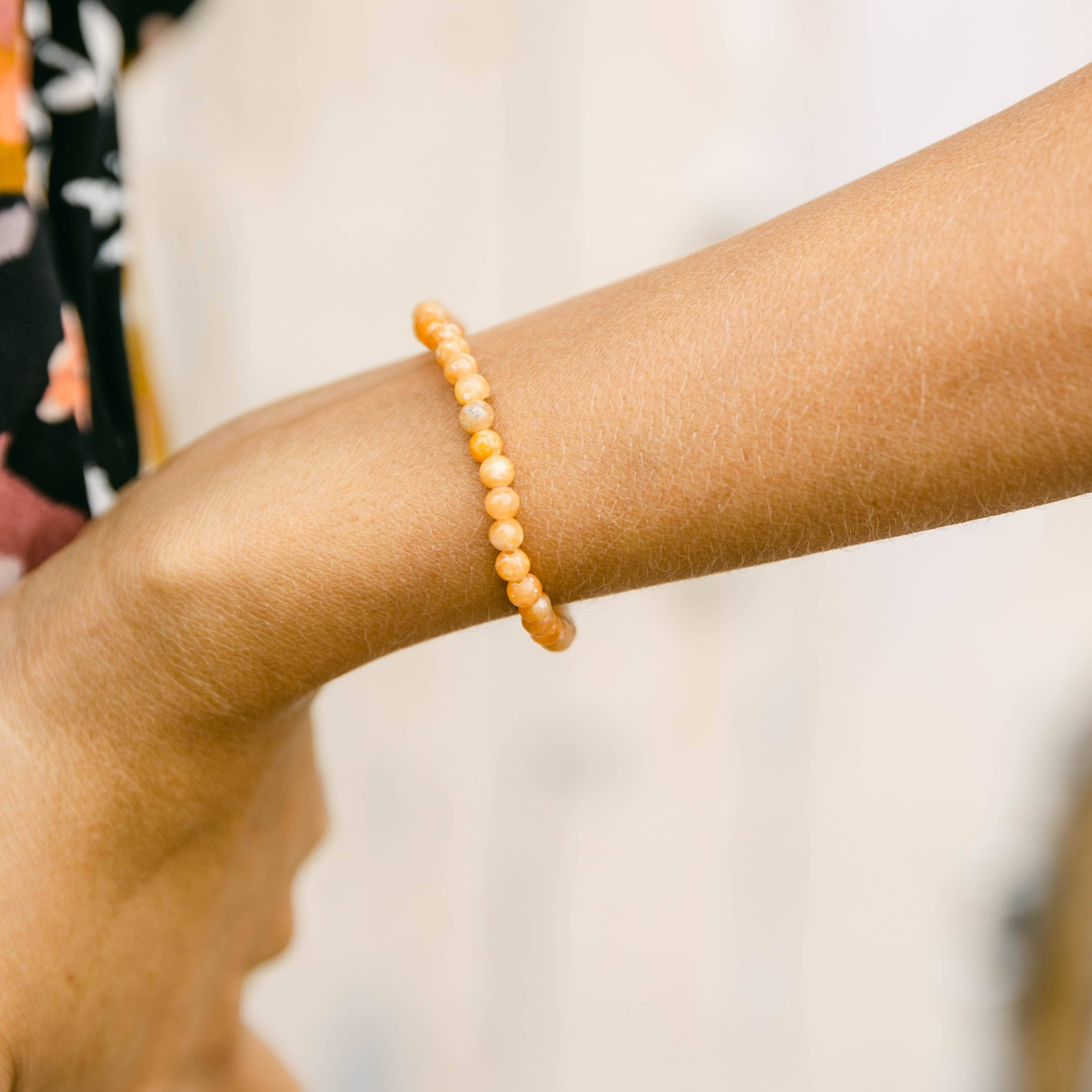 Orange Calcite Energy Bracelet