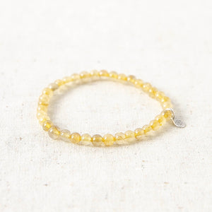 Yellow Rutilated Quartz Energy Bracelet