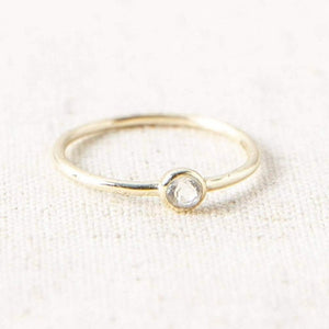 Clear Quartz Gold Ring