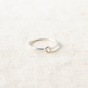 Clear Quartz Silver Ring