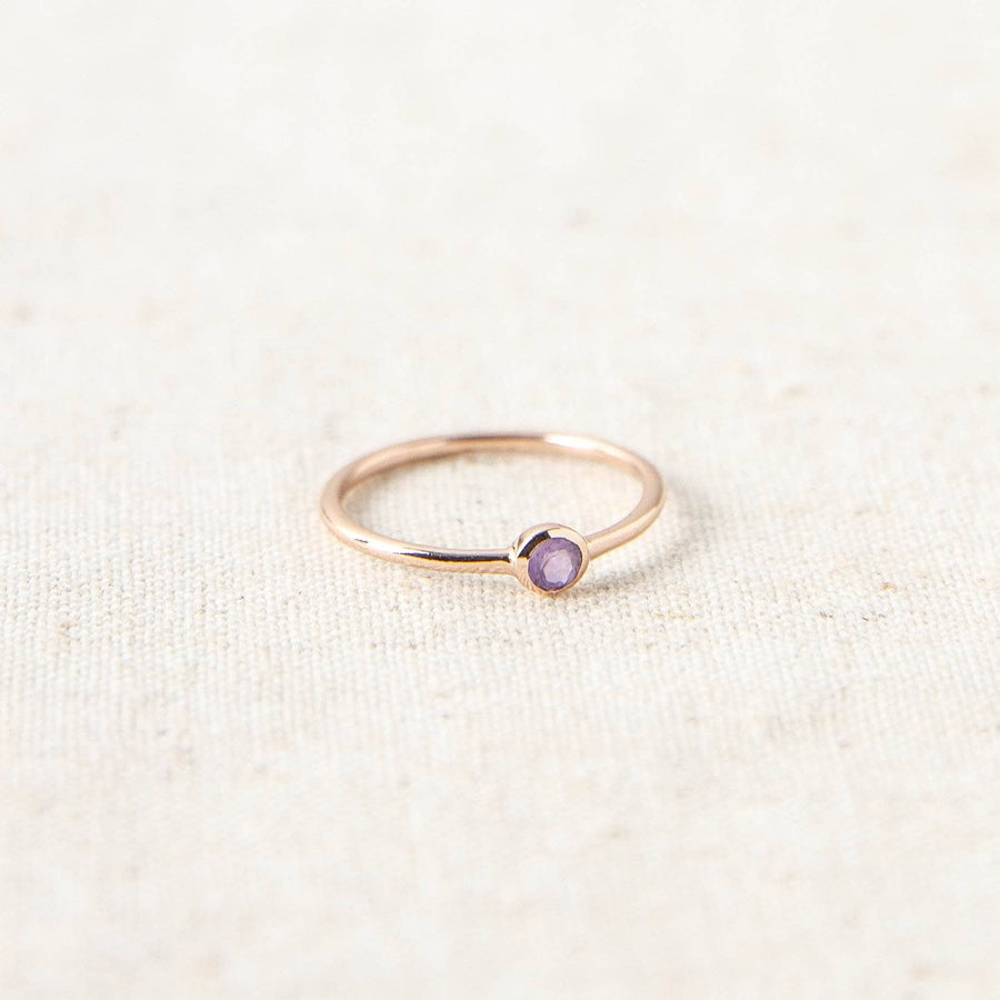 Amethyst Rose Gold Ring