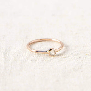 Clear Quartz Rose Gold Ring