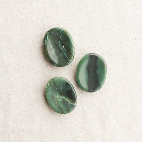 Green Jade Worry Stone