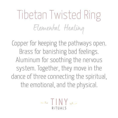 Tibetan Twisted Healing Ring