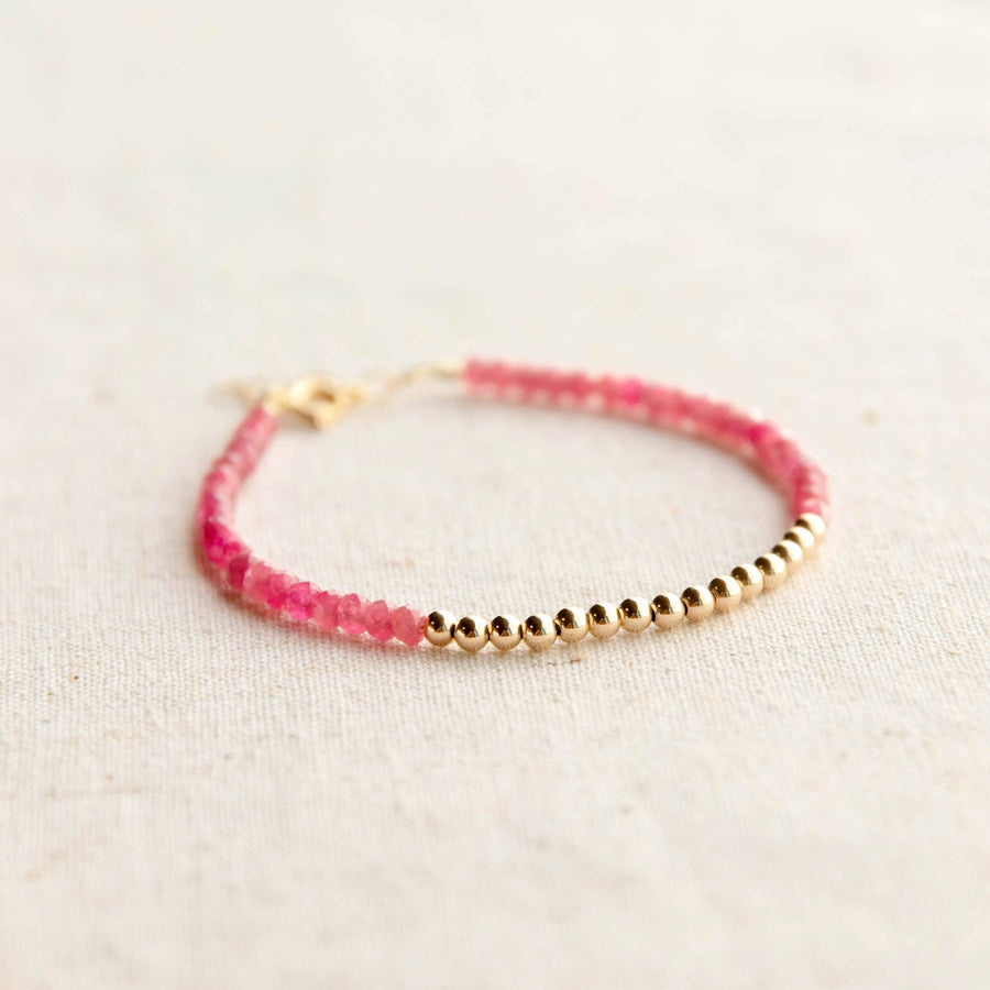 Gold Beaded Tourmaline Bracelet
