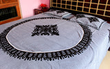 Black Patchwork Bed Sheet