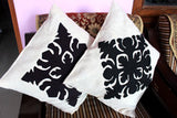 Set of 5 Black Cushion Covers