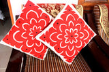 Set of 5 Red Cushion Covers
