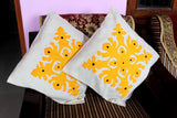 Set of 5 Yellow Cushion Covers