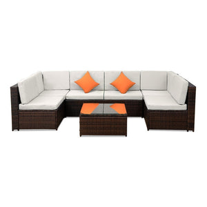 7 Seats Patio Furniture Sofa Set