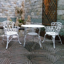 Load image into Gallery viewer, 3-piece cast aluminum patio bistro set