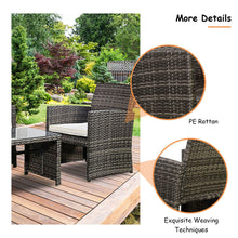 Load image into Gallery viewer, Costway 4 Pc Rattan Patio Furniture Set