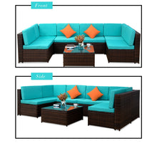 Load image into Gallery viewer, 7 Seats Patio Furniture Sofa Set